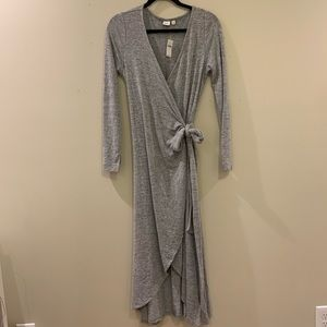 Gap soft knit wrap dress
